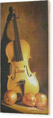 Grandfathers Fiddle Wood Print
