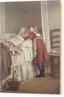Grandfathers Little Nurse Wood Print by James Hayllar
