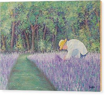 Grandma's Favorite Scent Wood Print by Susan DeLain
