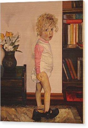 Grandma's Shoe Wood Print