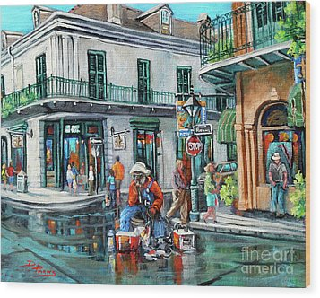 Grandpas Corner Wood Print by Dianne Parks