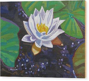 Grandpa's Lilies Wood Print