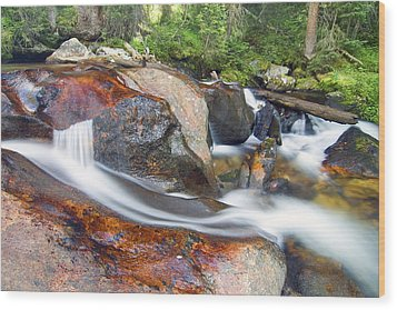 Wood Print featuring the photograph Granite Falls by Gary Lengyel