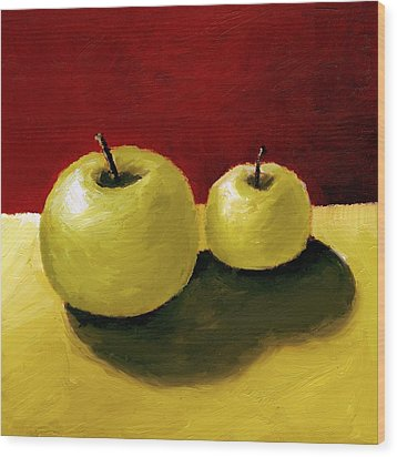 Granny Smith Apples Wood Print by Michelle Calkins