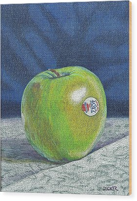 Wood Print featuring the painting Granny Smith by Robert Decker