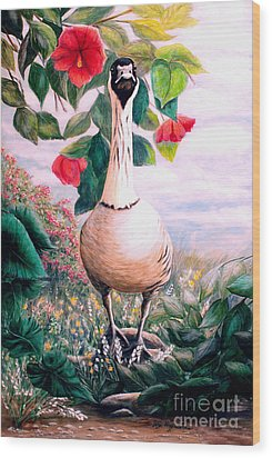 Granny's Goose Wood Print by DiDi Higginbotham