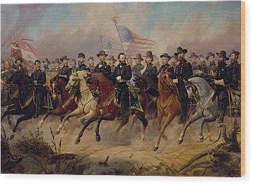 Grant And His Generals Wood Print