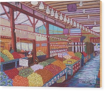 Granville Island Market Bc Wood Print by Rae  Smith