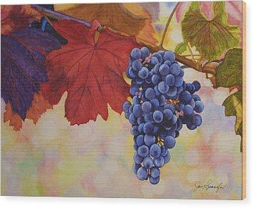 Grape Harvest Wood Print by Jan  Spangler