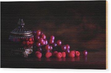 Grape Raspberry Wood Print
