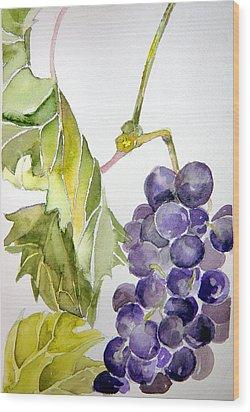 Grape Vine Wood Print by Mindy Newman