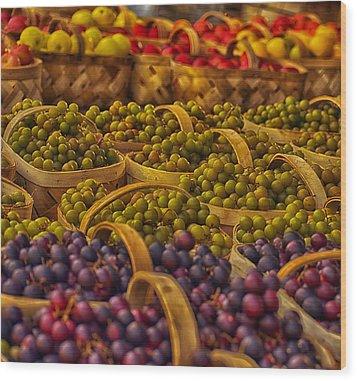 Grapes Galore Wood Print