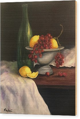 Grapes In Pewter  Wood Print
