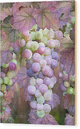 Wood Print featuring the mixed media Grapes Of Many Colors by Carol Cavalaris