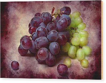 Wood Print featuring the photograph Grapes Red And Green by Alexander Senin