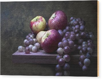 Grapes With Apples Wood Print by Tom Mc Nemar