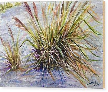 Grass 1 Wood Print