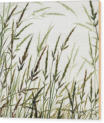 Wood Print featuring the painting Grass Design by James Williamson