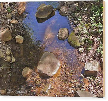 Wood Print featuring the photograph Grass Valley Creek Ca by K L Kingston