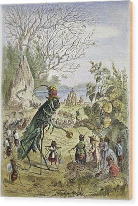 Grasshopper And Ant Wood Print by Granger