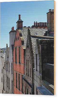 Wood Print featuring the photograph Grassmarket In Edinburgh, Scotland by Jeremy Lavender Photography