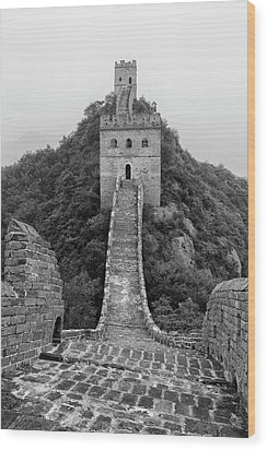 Wood Print featuring the photograph Great Wall 1, Jinshanling, 2016 by Hitendra SINKAR