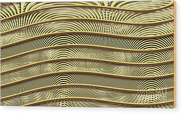 Grate Of Yellow Wood Print by Ron Bissett