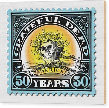 Grateful Dead 50 Wood Print by Gary Grayson