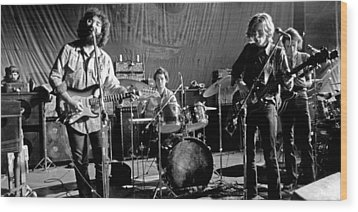 Grateful Dead In Concert - San Francisco 1969 Wood Print