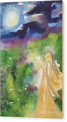 Wood Print featuring the painting Gratitude by Julie Engelhardt