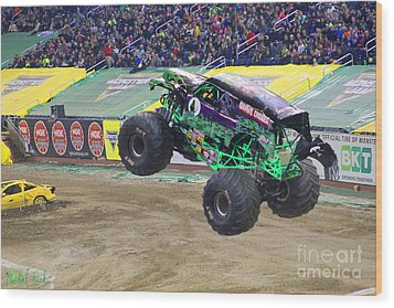 Grave Digger  Wood Print by Michael Rucker