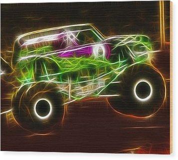 Grave Digger Monster Truck Wood Print by Paul Van Scott