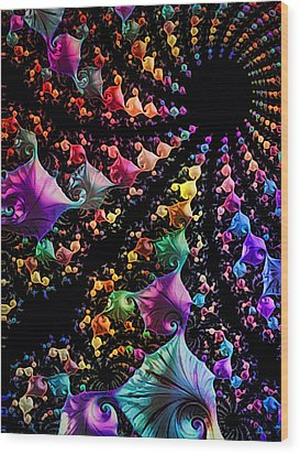 Gravitational Pull Wood Print by Kathy Kelly
