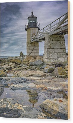 Wood Print featuring the photograph Gray Day At Marshall Point by Rick Berk
