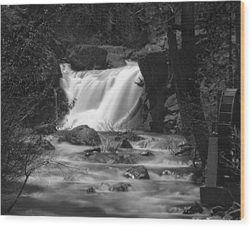 Gray Eagle Falls Wood Print