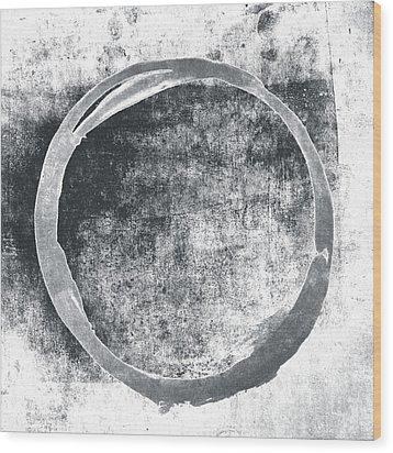 Gray Enso Wood Print
