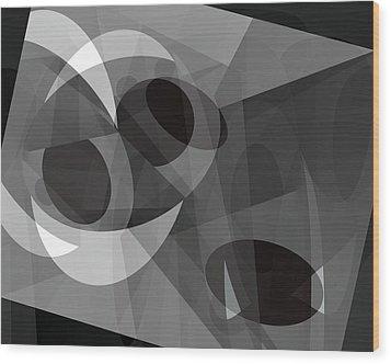 Wood Print featuring the digital art Gray On Gray by Lynda Lehmann