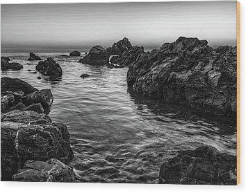 Gray Waters Wood Print