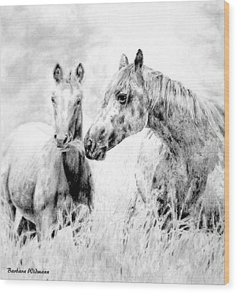 Grazing Wood Print by Barbara Widmann