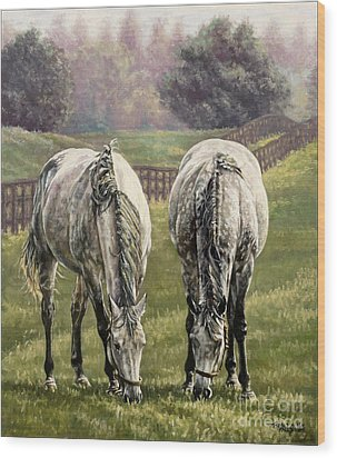 Grazing Wood Print by Thomas Allen Pauly