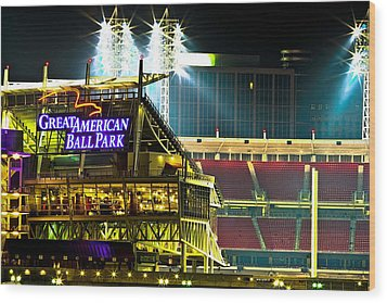 Great American Ballpark Wood Print by Keith Allen