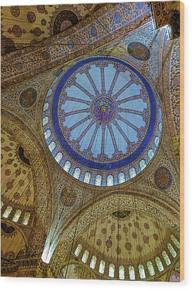 Great Blue Dome Wood Print