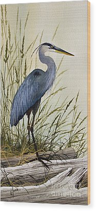 Great Blue Heron Splendor Wood Print