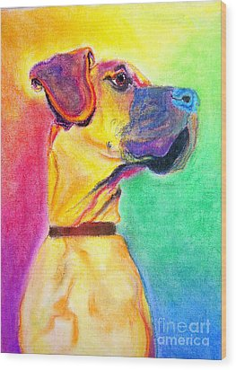 Great Dane - Rapture Wood Print by Alicia VanNoy Call