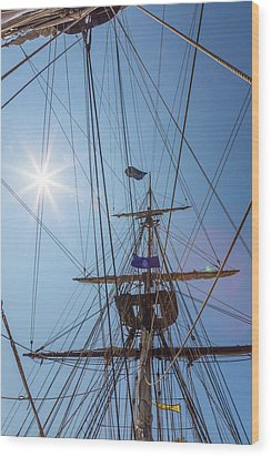 Wood Print featuring the photograph Great Day To Sail A Tall Ship by Dale Kincaid