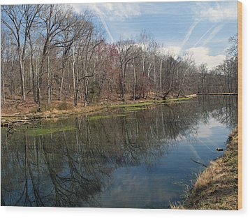 Great Falls Park Along The Towpath - Maryland - C And O Canal Wood Print by Brendan Reals