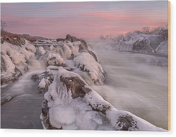 Potomac River Great Falls Virginia Wood Print by Rick Dunnuck