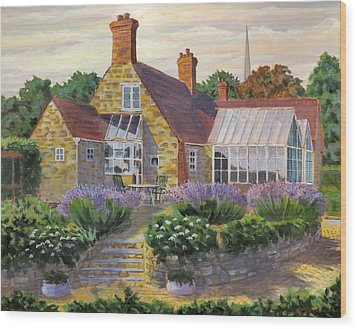 Great Houghton Cottage Wood Print