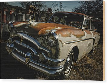Wood Print featuring the photograph Great Old Packard by Marilyn Hunt