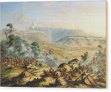 Great Peak Of The Amatola-british-kaffraria  Wood Print by Thomas Baines